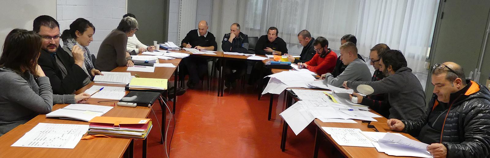 réunion lancement chantier-extension atelier pédagogique
