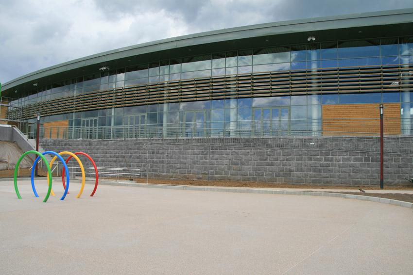 Centre aqualudique vue exterieure