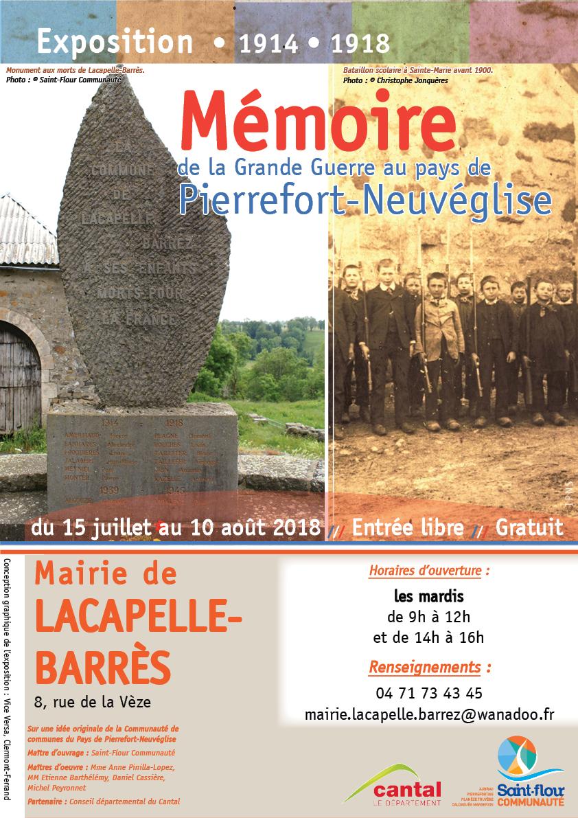 Affiche Grande Guerre - Mairie Lacapelle-Barrès