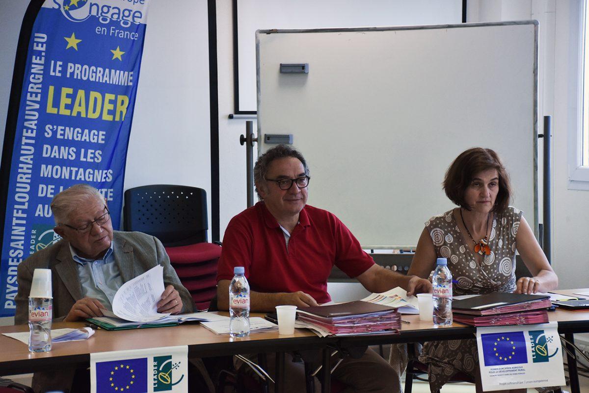 Jacques Couvret, Pierre Jarlier et Ghislaine Pradel.