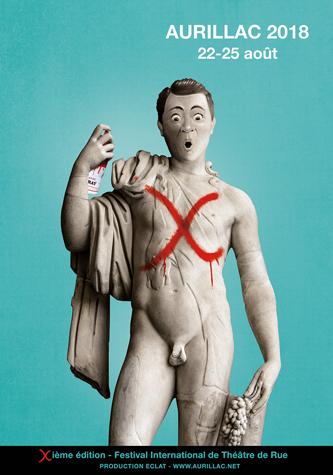 Affiche théâtre de rue Aurillac 2018