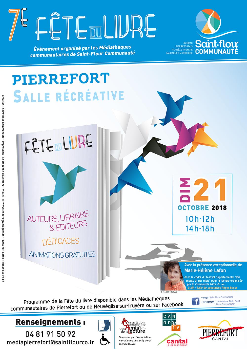 Affiche Fête du livre 2018 Pierrefort