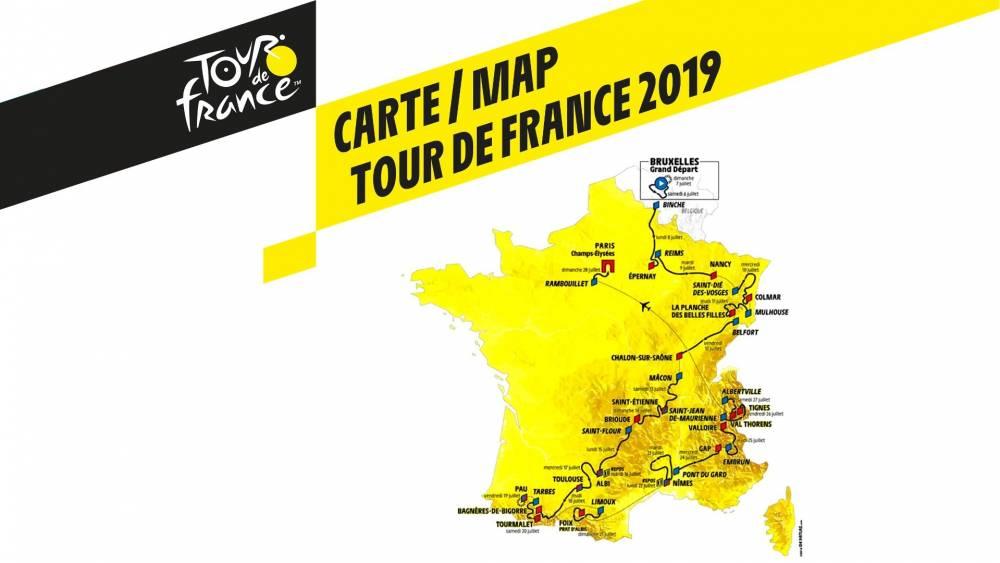 Carte parcours Tour de France 2019
