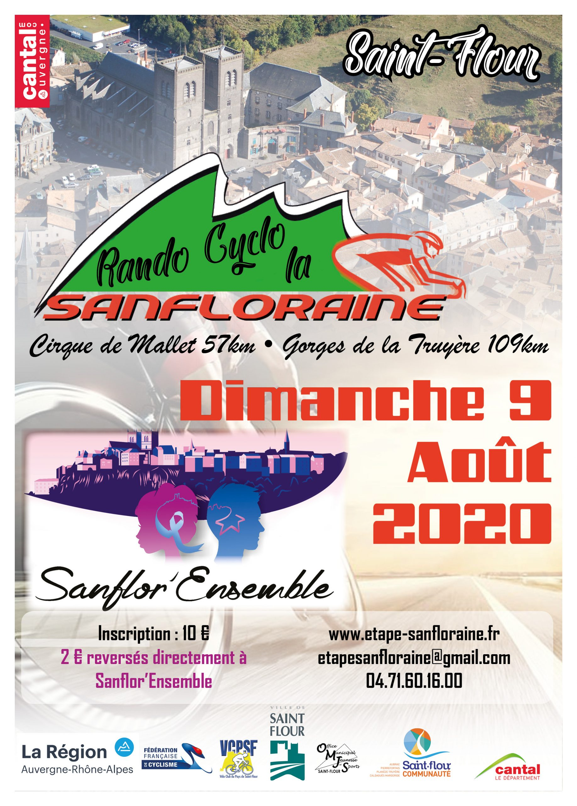 Affiche Rando Cyclo La Sanfloraine 2020