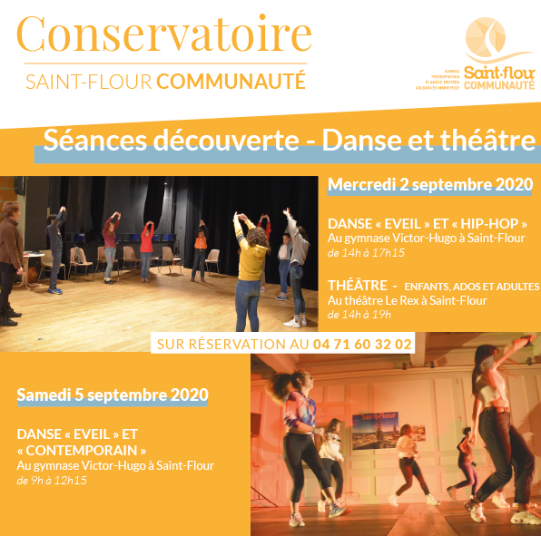 séances découverte conservatoire saint-flour communauté danse théâtre