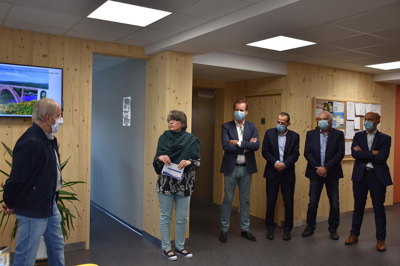 Inauguration distributeur billets Ruynes-en-Margeride