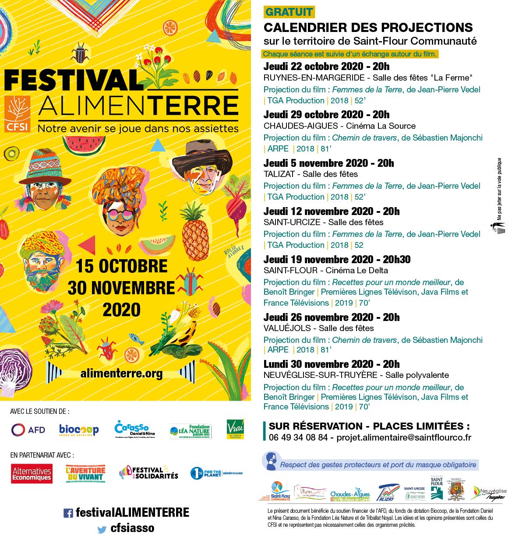 Projections 2020 Saint-Flour Communauté Festival Alimenterre